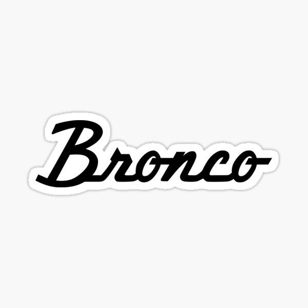 Ford Bronco Script Sticker