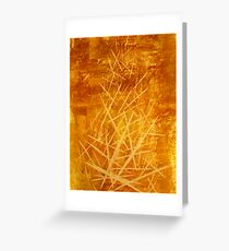 Ascending Tower - original abstract acrylic painting on canvas Greeting Card
