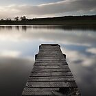 jetty, pitfour loch by codaimages