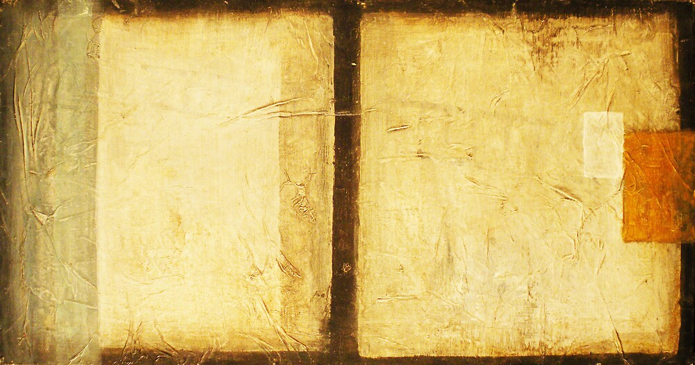 Page One - original mixed-media painting on wood panel by Marco Sivieri