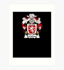 Escalante Coat of Arms - Family Crest Shirt Art Print