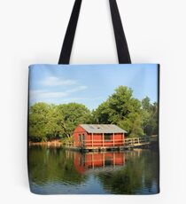 Boathouse Reflection Tote Bag