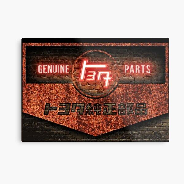 Vintage Toyota Parts Sign Metal Print