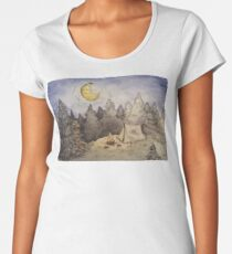Camiseta premium para mujer Camping Moonlight