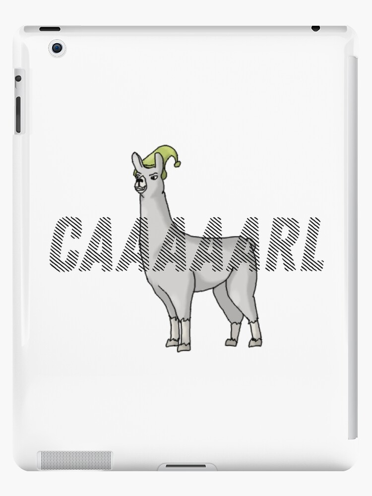 \'Llamas with hats - CARL\' iPad Case/Skin by Mariascientist