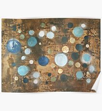 All That Blue Behind - original abstract painting on canvas Poster