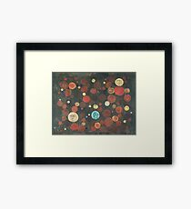 Autumn Thoughts Meeting - original abstract painting on canvas Framed Print