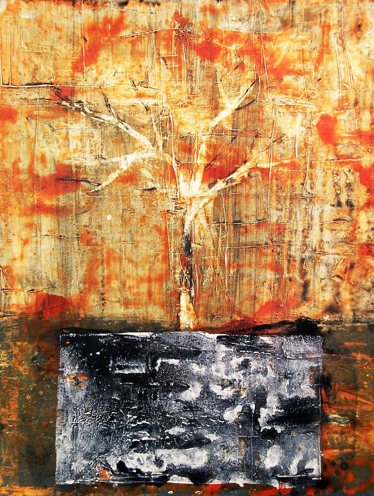 Roots - original acrylic painting on canvas by Marco Sivieri