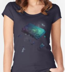 Constructing the Cosmos Women's Fitted Scoop T-Shirt
