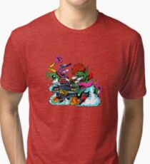 Tiny Meat Gang Multicolor Ink Tri-blend T-Shirt