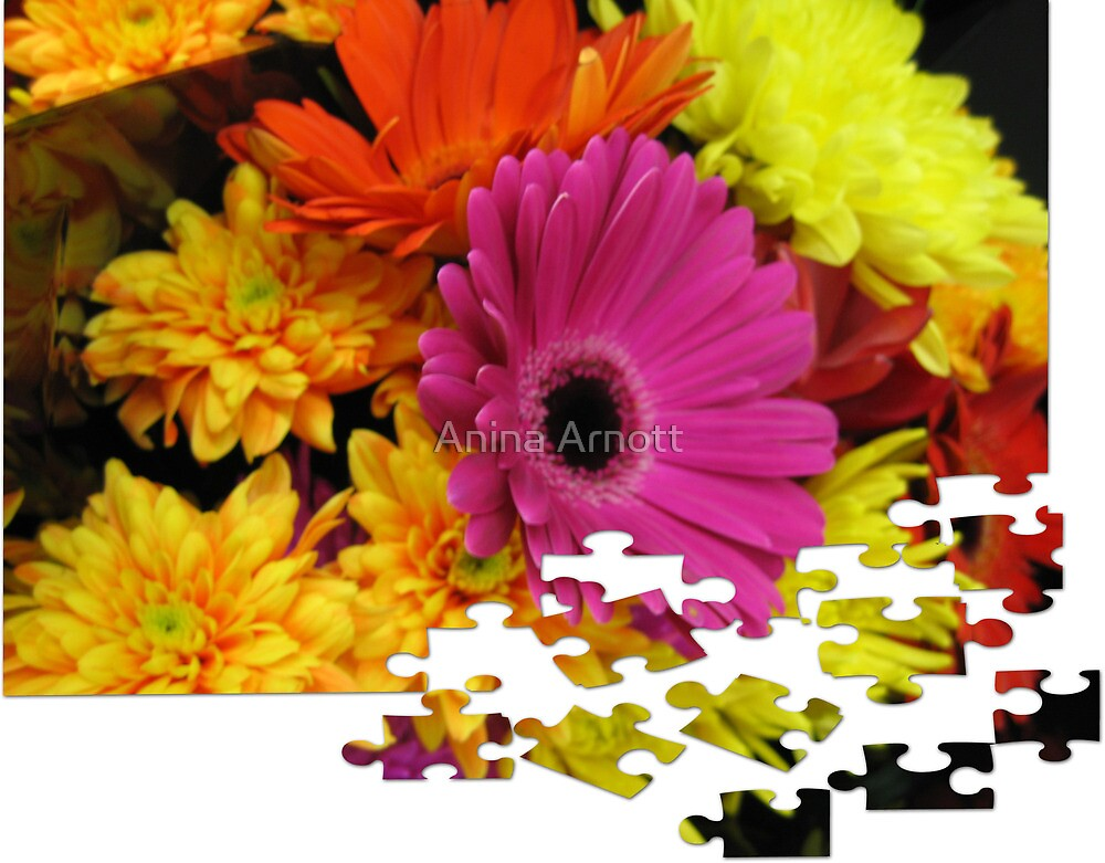 Flowers Puzzle by Anina Arnott