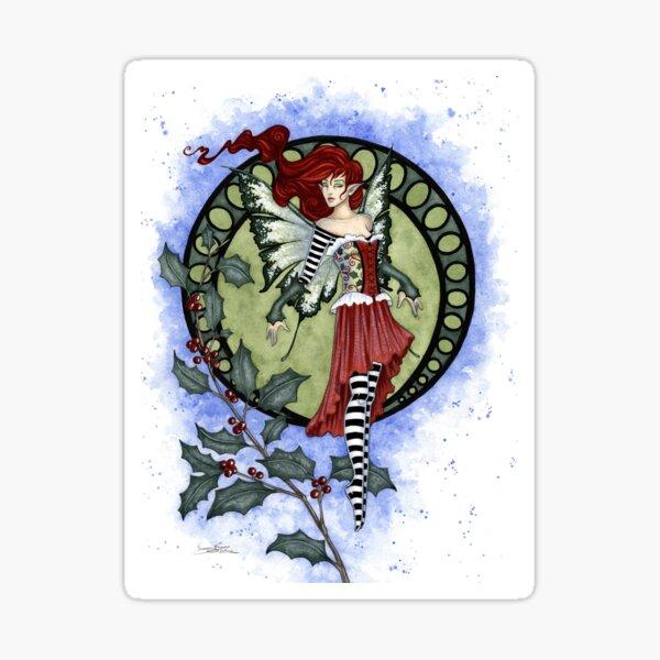 Holly Fairy Sticker