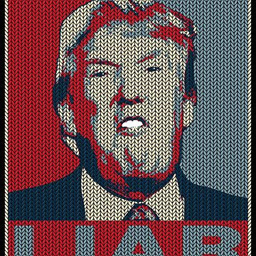Trump Liar Ugly Christmas T-shirt by EthosWear
