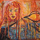 In The Beginning, Goddess Sophia ,painting the Earth  by eoconnor