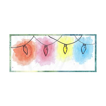 Watercolor Christmas Lights by Alandoubleu