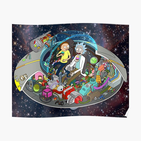 Rick and Morty cut-away Poster