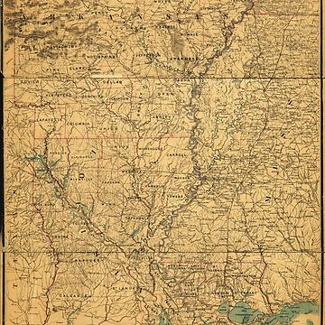 Map of Louisiana & Arkansas (1864) by allhistory