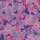 «Acuarela flores morado / rosa» de pitaya-roja