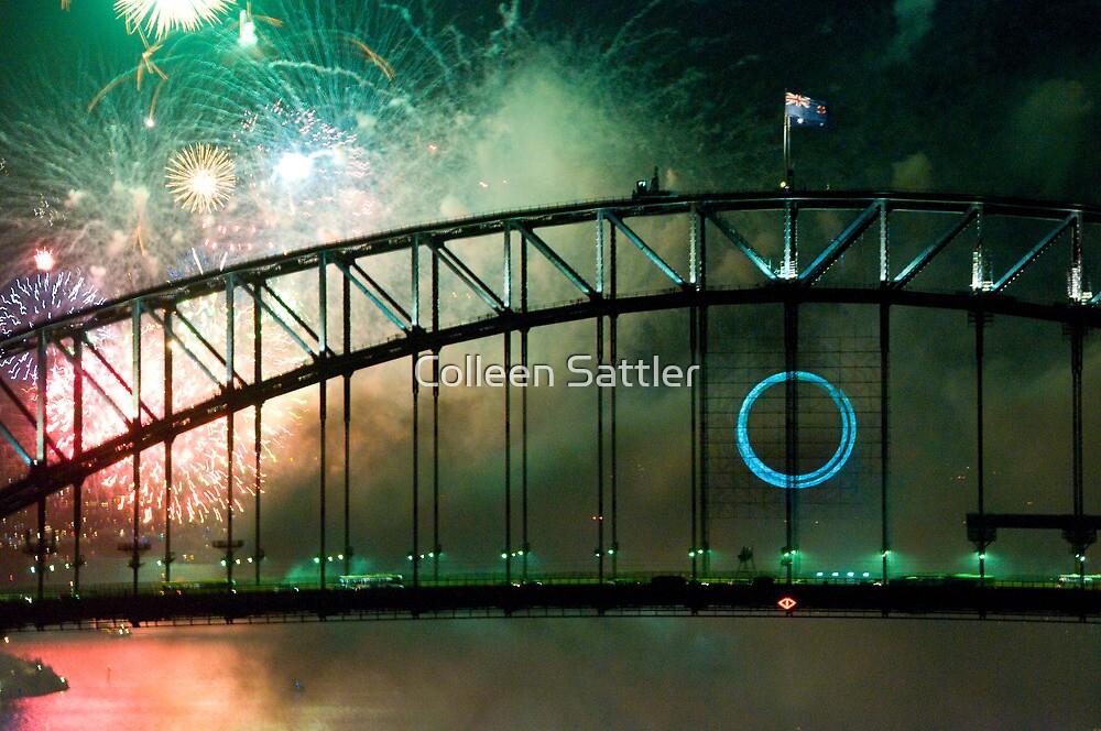 Sydney Harbour bridge New Years Eve 2010 by Colleen Sattler