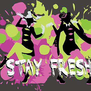 Splatfest Explosion Girls - Stay Fresh  by AquaMoon