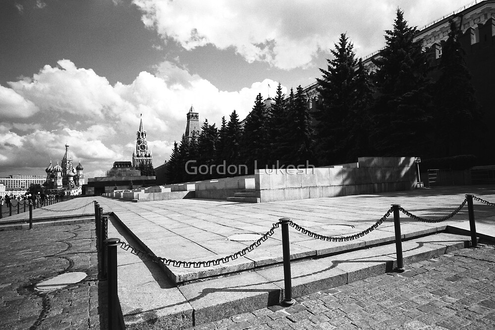Lenin's Tomb and Red Square by Gordon Lukesh