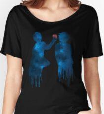Livre de la mort - Léger et L (galaxie bleue et pomme de la galaxie rouge) T-shirts coupe relax