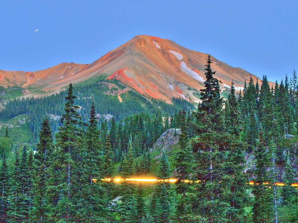 Red Mountain at Dusk by David Allen