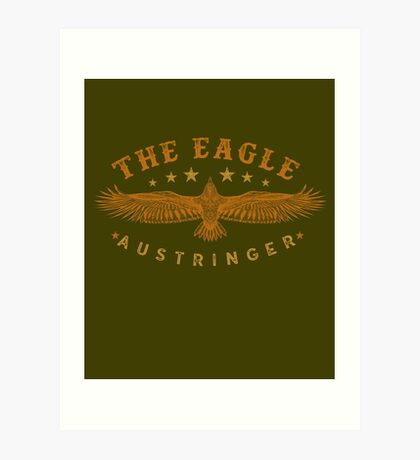 Eagle Austringer's Shirts and GIfts for Falconers Who Fly Eagles in Falconry Art Print