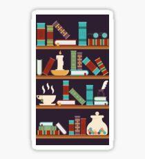 Mystical Bookshelf Sticker