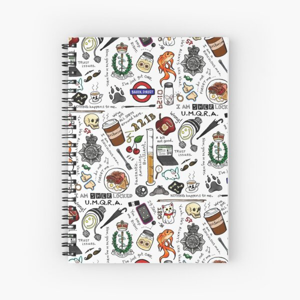 Sherlock Collage (color) Spiral Notebook