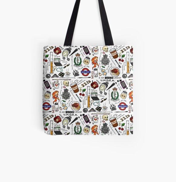 Sherlock Collage (color) Bolsa estampada de tela