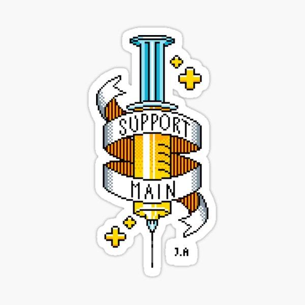 Support Main Pixel Art | FPS RPG Gamer Art | Medical Syringe Sticker