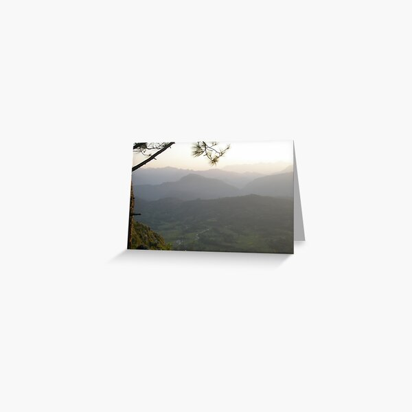 Mountainous Horizon Greeting Card