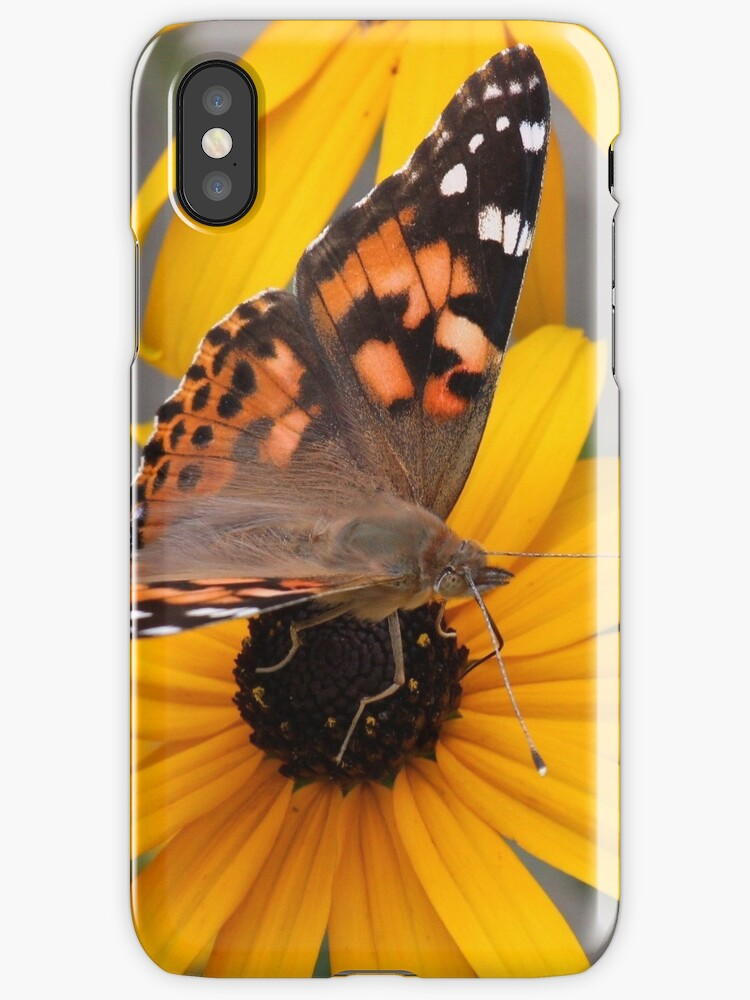 Painted Lady Butterfly phone case by hummingbirds