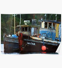 Painted Tugs Poster