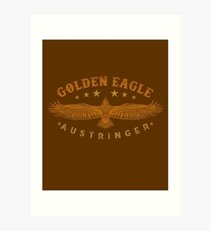 Eagle Austringer's Shirts and GIfts for Falconers Who Fly Golden Eagles in Falconry Art Print