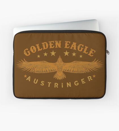 Eagle Austringer's Shirts and GIfts for Falconers Who Fly Golden Eagles in Falconry Laptop Sleeve