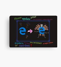 Internet Explorer Canvas Print