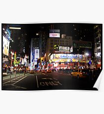 Nighttime at Times Square, NYC Poster