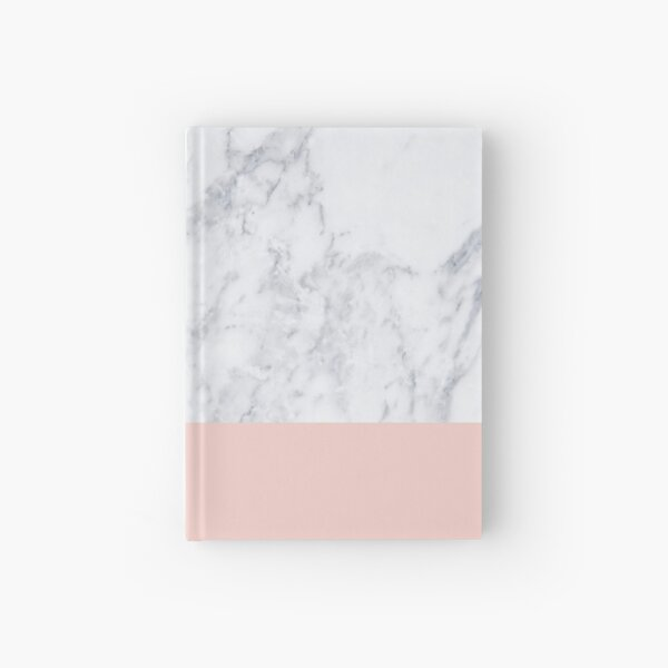 Marble On Rose Gold Hardcover Journal