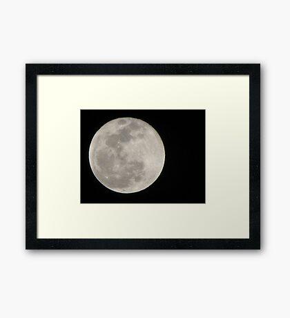 New Year Blue Moon Framed Print