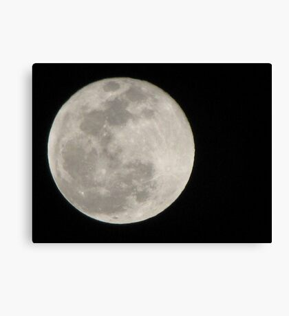 New Year Blue Moon Canvas Print