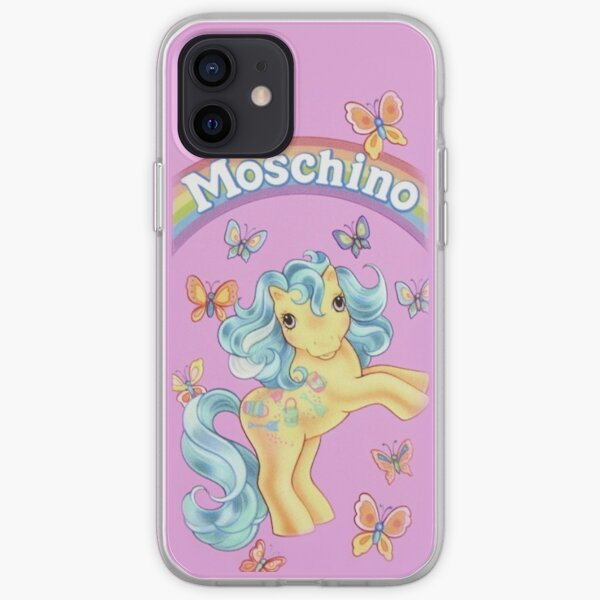 moschino art, cartun, maison, cas Coque souple iPhone