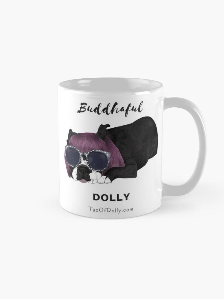 Alternate view of Buddhaful Dolly - Cafe Double  Mug