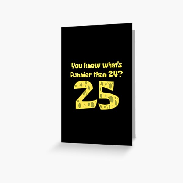 25 - Spongebob Greeting Card