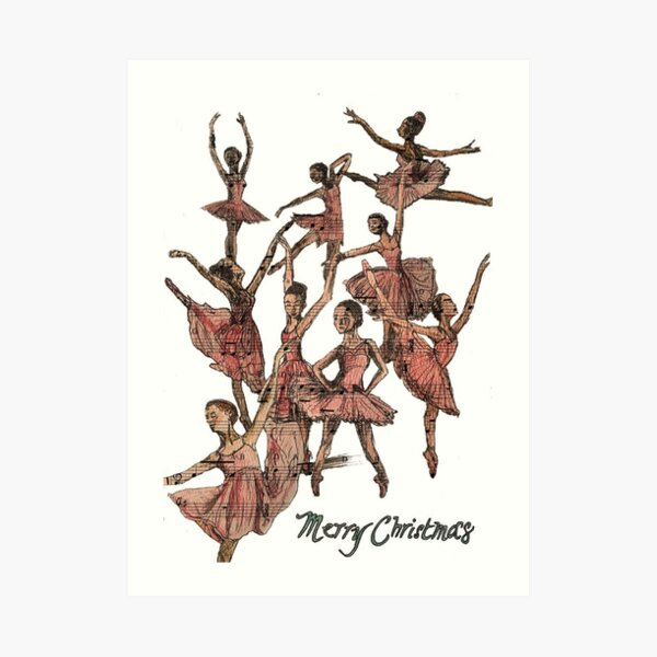 Nine Ladies Dancing Art Print