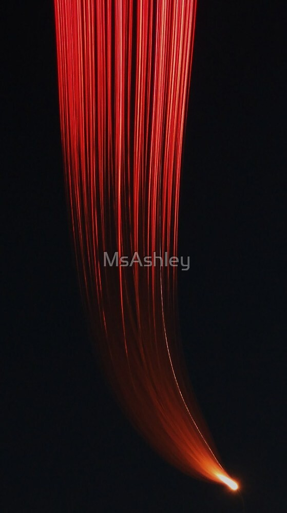 Streaming Red Flame-Fireworks by MsAshley