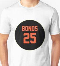 San Francisco Giants Barry Bonds #25 back Unisex T-Shirt