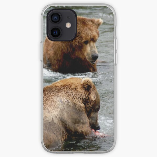 Grizzly Bears in Brooks falls Alaska iPhone Soft Case