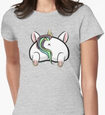 Unicorn Butt Women's Fitted T-Shirt